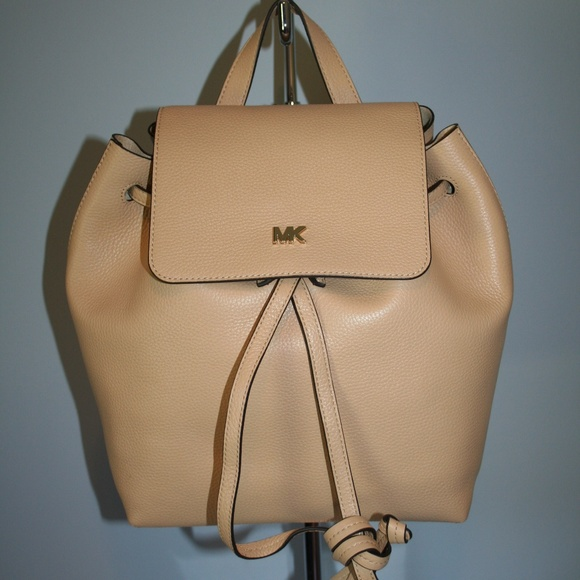 547d2c55fc4b MICHAEL KORS JUNIE MEDIUM FLAP BACKPACK BUTTERNUT